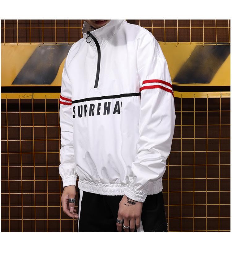 2018 thủy triều ban đầu thương hiệu của nam giới sinh viên mỏng áo gió Châu Âu và Mỹ hip hop hiphop lỏng thể thao giản dị áo khoác thủy triều