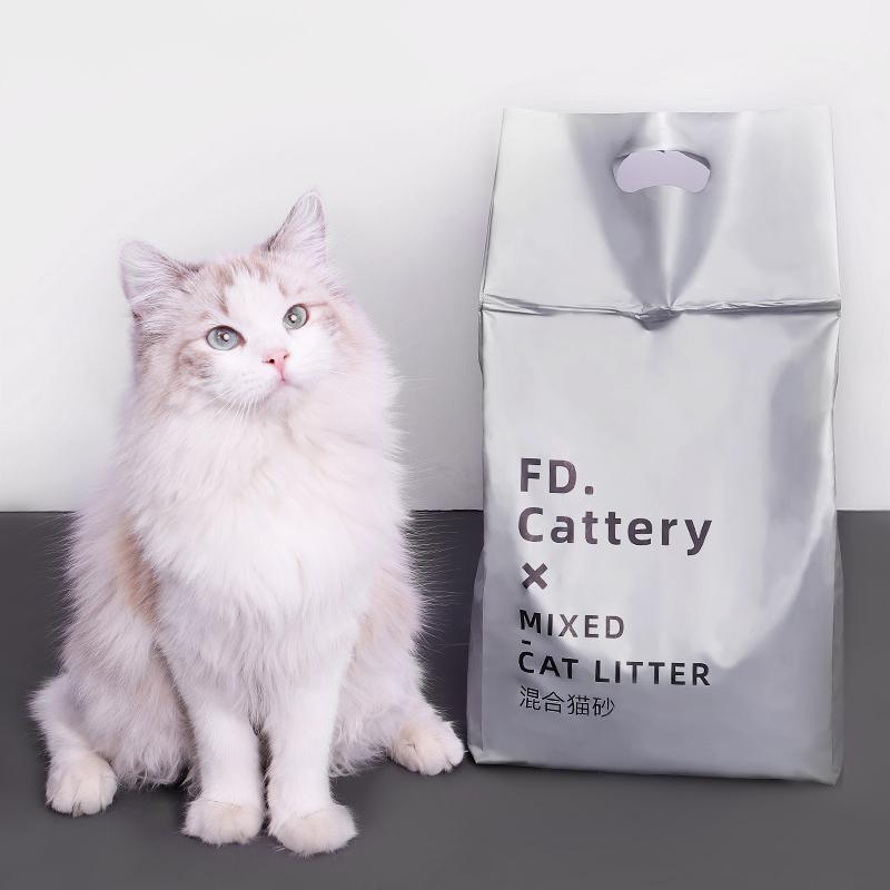 猫砂混合原味豆腐砂除臭无尘膨润土梵都包邮2公斤猫沙颗粒易结团