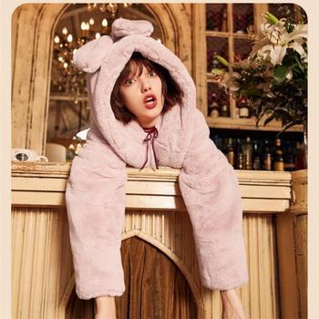 仿皮草外套女中长款2018秋冬新款韩版獭兔水貂毛时尚茸茸毛绒大衣