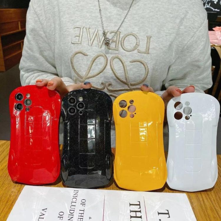 中國代購 中國批發-ibuy99 跑车小蛮腰手机壳苹果X创意闪粉7p/8plus防摔XR/XSMAX硅胶保护套