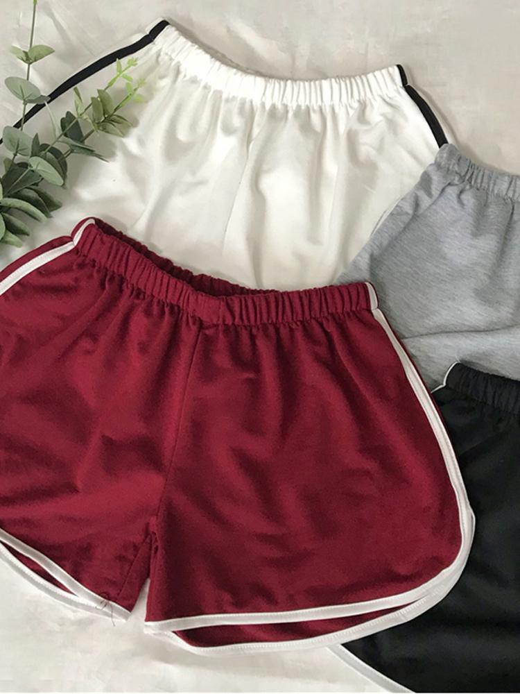 2018 phụ nữ quần Hàn Quốc phiên bản của lỏng rộng chân quần nóng đơn giản mới màu sắc hoang dã phù hợp với thể thao giản dị quần short mùa hè ăn mặc