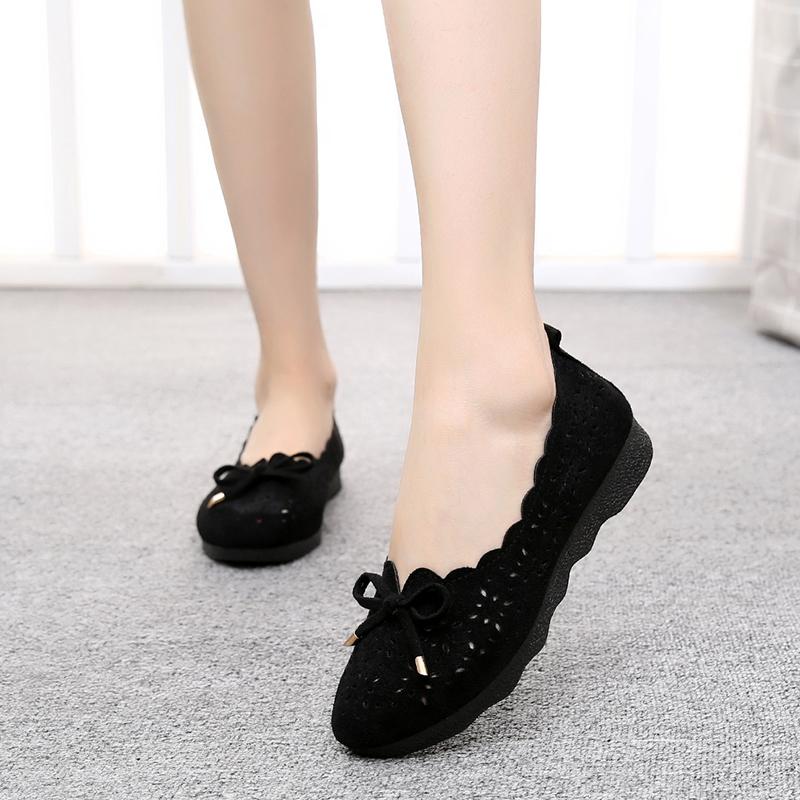夏季软底老北京布鞋女网鞋中老年透气女鞋老人平底单鞋平跟妈妈鞋