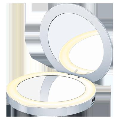 BEURER德国LED随身化妆镜带灯充电便携化妆灯折叠迷你双面镜BS39