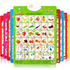 A full set of audio wall charts, pinyin, young children, cognitive enlightenment, early education, vocal, baby, picture, literacy toy, 0-3 years old