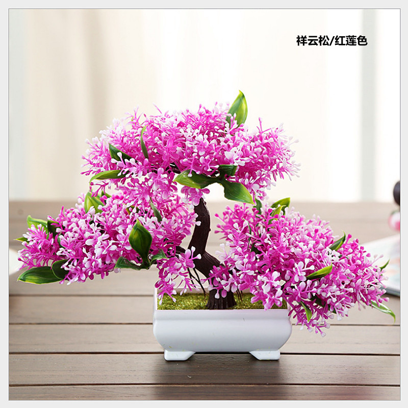USD 10.14] Living room Indoor lucky draw TV cabinet table plant ...