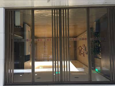 Art laminated glass line laminated screen hotel model room entrance partition tempered glass