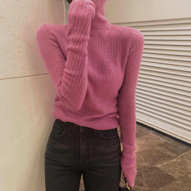 马海毛高领女薄款2018羊毛新款韩版秋冬套头毛衣毛针织衫修身打底