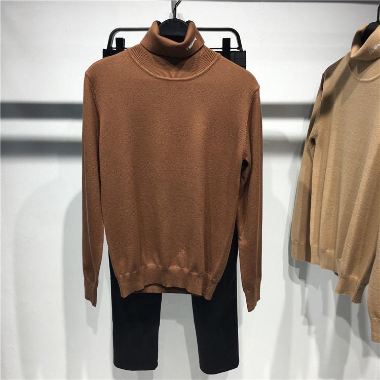 Áo len nam cao cổ BIRD TIGER Thêu áo len mỏng Áo len cao cổ nam mùa thu BWEB94123 - Áo len