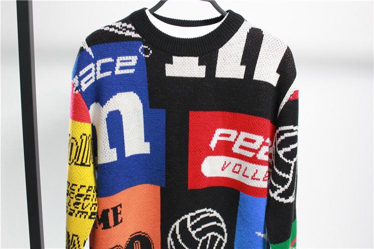 BIRD TIGER Male PEACEBYEB đôi uyên ương M áo len lưới màu đỏ cùng áo len 94A62 - Hàng dệt kim