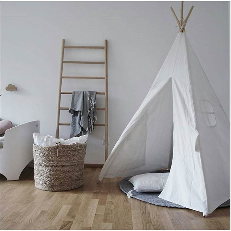 Ins Nordic Children's Room Decorated Tent Baby Game Room Indoor Tent White Tent Large With Windows