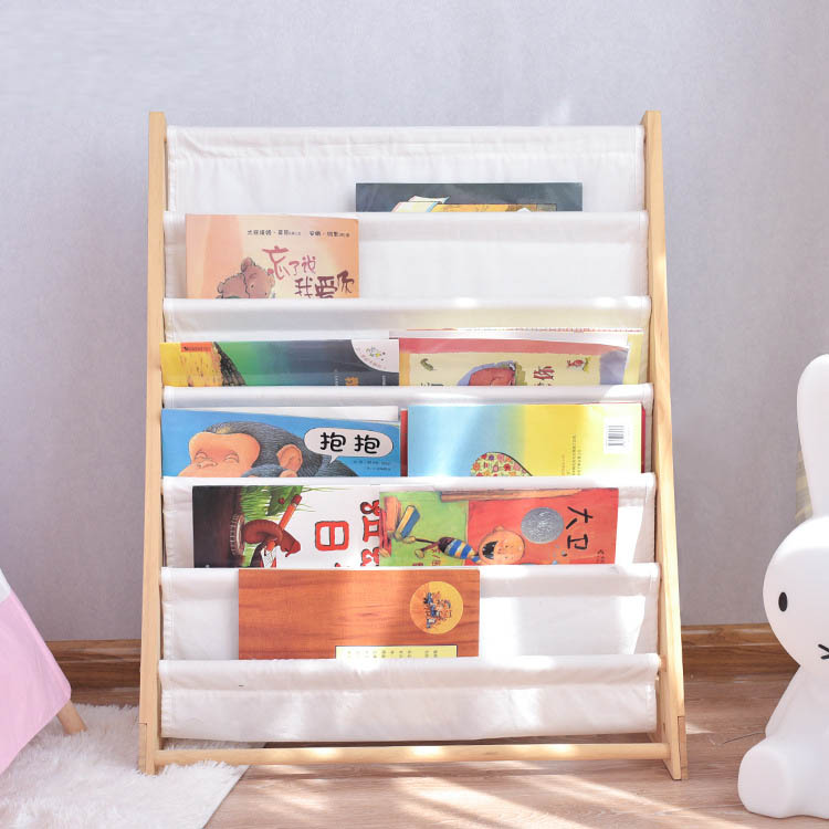 ins custom children's room decoration bookshelf nursery baby solid wood storage bookcase simple storage shelf