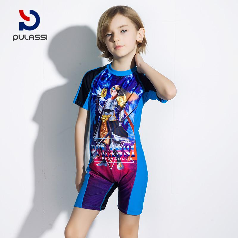 c7605635e9 ... Plasch children's one-piece swimsuit boys children cute boxer children  sun protection big children children