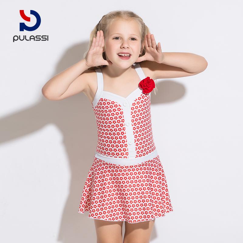 26d8fcca4b431 Plasch Children's Swimsuit Girl Princess Dress Korean Fashion Cute ...