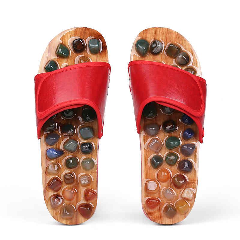鹅卵石按摩拖鞋足底穴位足疗鞋男防滑脚底保健家居凉拖鞋女夏室内