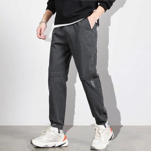 男士新款束脚工装裤夏季薄款