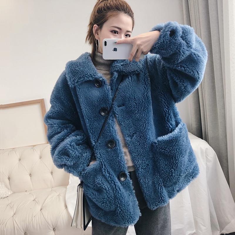 Chic круг ягнята пальто женские короткие будут зимовать elmo пальто небольшой ароматный искусственная кожа трава кашемир толстый студент 580266769217