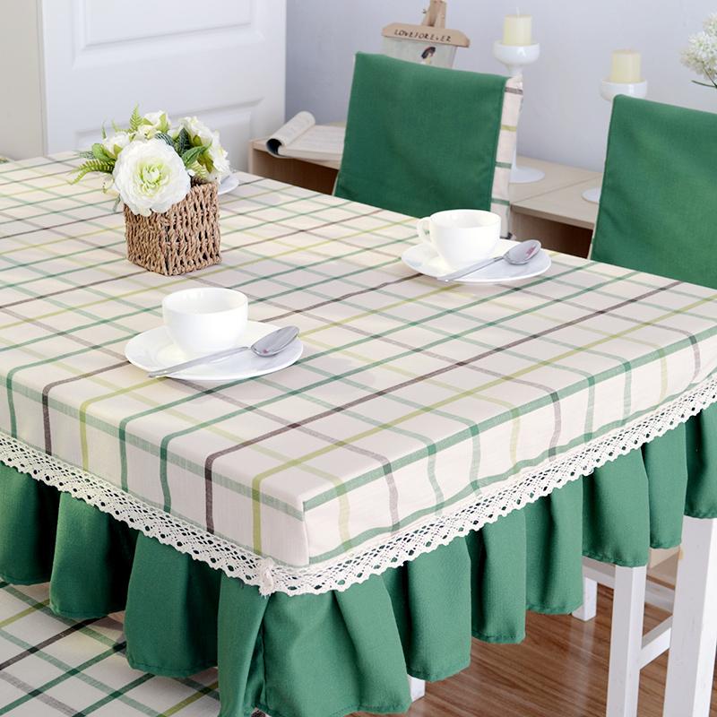 Khăn trải bàn bằng vải bàn ăn bọc bàn ghế bọc bìa đặt sợi bông nhuộm và vải lanh hình chữ nhật tròn bàn cà phê bìa tùy chỉnh - Khăn trải bàn