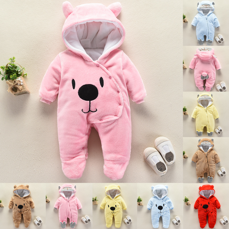 e94e62fae Baby onesie autumn and winter newborn clothes winter clothes thickened boys  and girls crawling clothes clothes clothes outside to keep warm