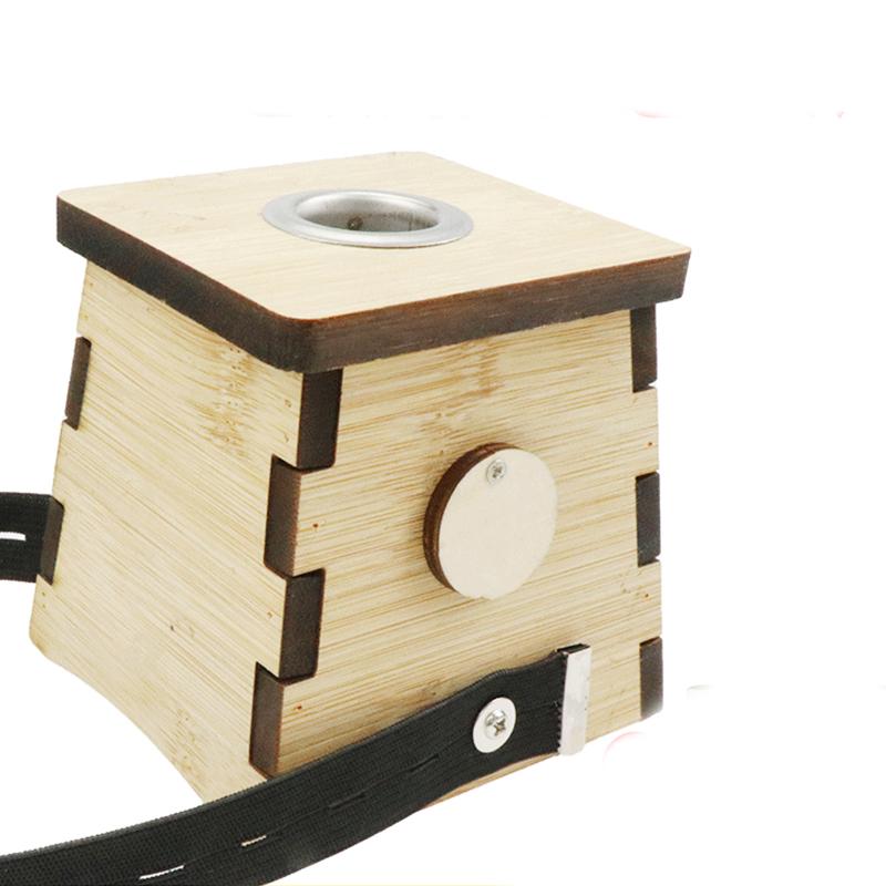 新加厚艾灸盒木制通用全身随身灸家用木盒木质竹制家庭式艾条熏盒
