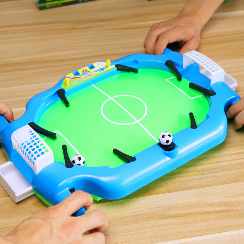 桌上足球双人男孩桌游儿童益智力对战游戏机台亲子桌面玩具足球场