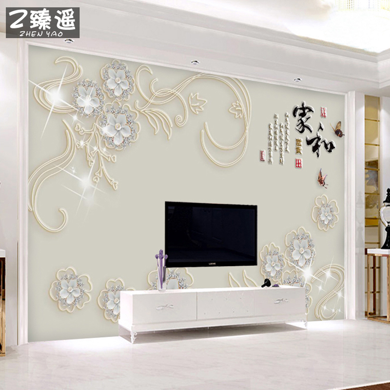 TV Background Wall Paper 5d Stereo Simple Modern Wallpaper Living Room Atmosphere Cloth 8D Film And Television Decoration Murals