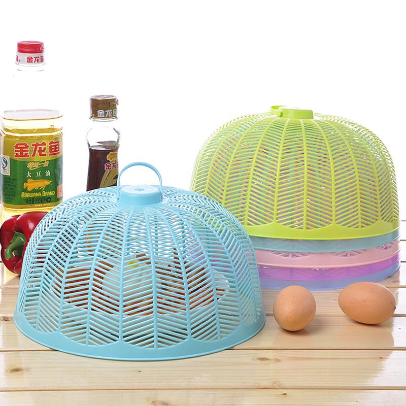 10个装家用防蝇防蚊饭菜罩单盘食物菜罩桌罩盖菜罩罩菜伞碗罩包邮[优惠后3元包邮]