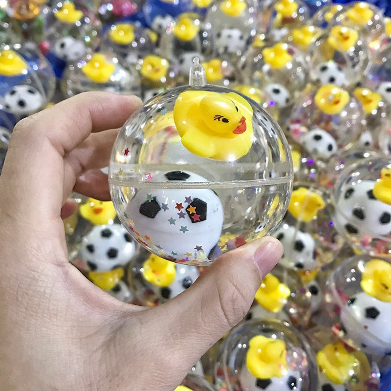 Children's children's light-emitting elastic ball baby toy ball Crystal transparent ball flash child yellow duck elastic ball 2
