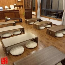 Solid wood bay window table Japanese tatami coffee table simple Chinese school desk balcony chess table 炕 table platform low table