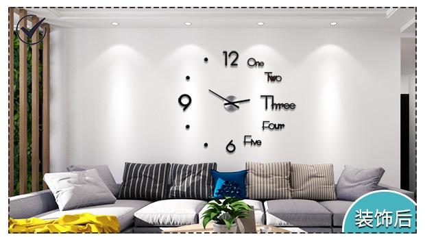 免打孔diy钟表挂钟客厅家用时尚时钟现代简约装饰个性创意北欧表商品详情图
