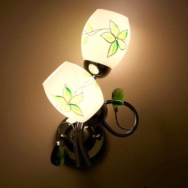 欧式田园地中海卧室吧台过道马赛克床头灯美人鱼背景墙壁灯镜前灯