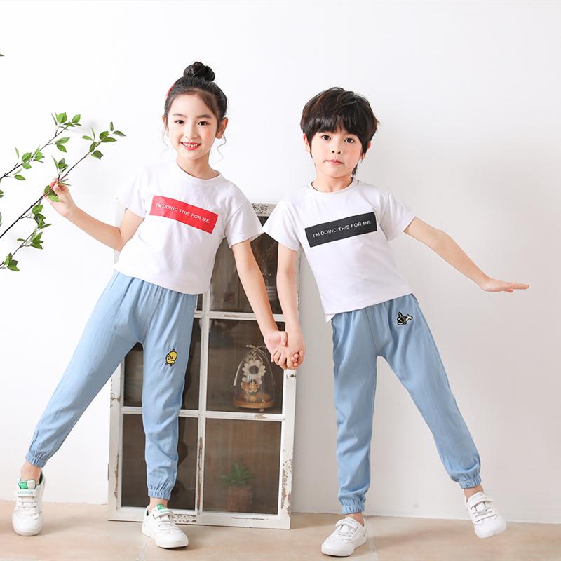 男童防蚊裤夏季薄款儿童灯笼裤女童夏装新款洋气小孩运动长裤子