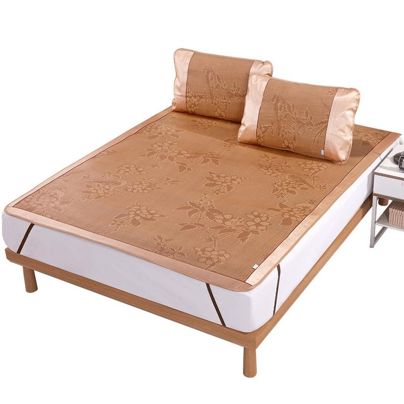藤席 凉席1.8m床三件套1.5米夏季可折叠夏天空调席子0.9m学生床