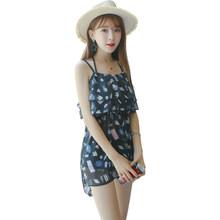 女韩国小香风 比基尼泳衣三件套