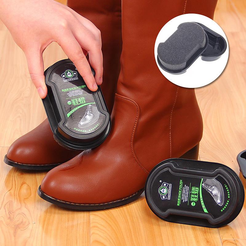 Один вытирать что яркий дуплекс губка обувной воск бесцветный яркий обувной защищать обувной воск на светлая кожа кожа медсестра масло губка кожаная обувь вытирать