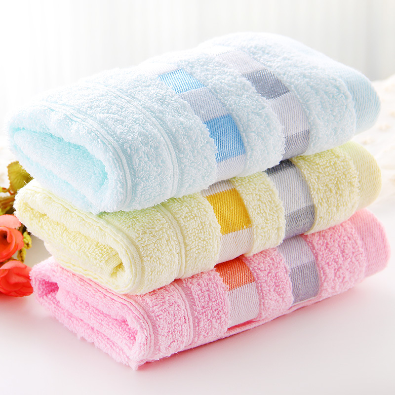 Children's thick cotton towel adult couple wipe face bamboo fiber bath soft absorbent household wash face towel