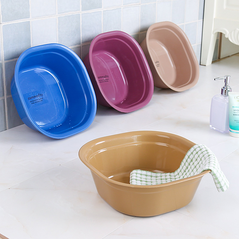 Square thick plastic basin washbasin large household sink laundry ...