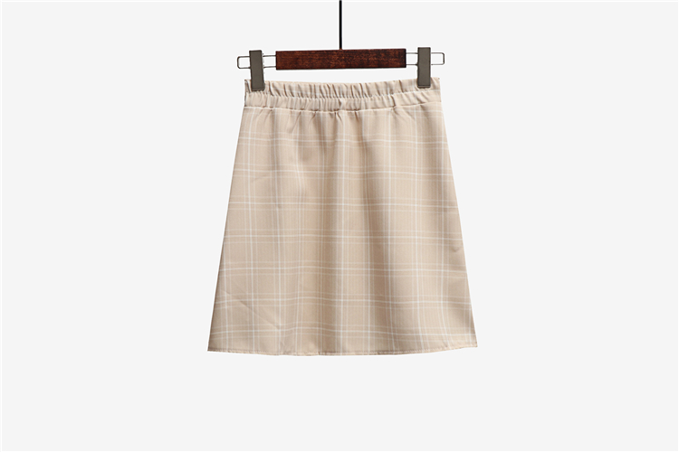 Leisure College Wind High Waist Skirt Women's Skirts Casual Ladies Kawaii Ulzzang Female Korean Vintage Clothing For Women 12