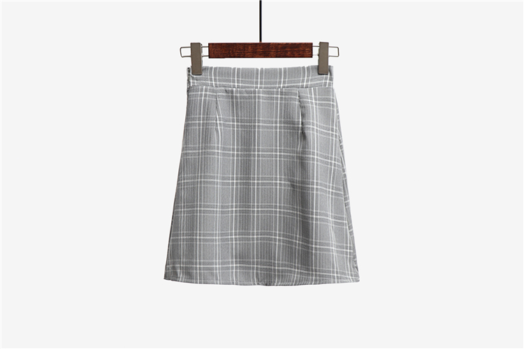 Leisure College Wind High Waist Skirt Women's Skirts Casual Ladies Kawaii Ulzzang Female Korean Vintage Clothing For Women 3