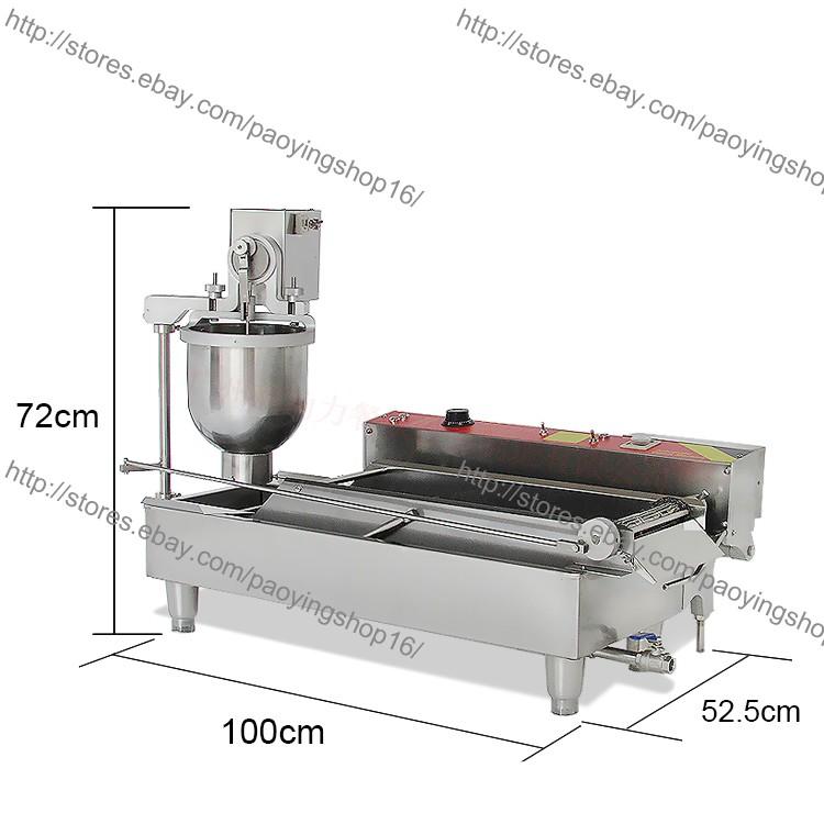 800PCS//H Commercial Electric Automatic Doughnut Donut Machine Maker Fryer 3 Mold