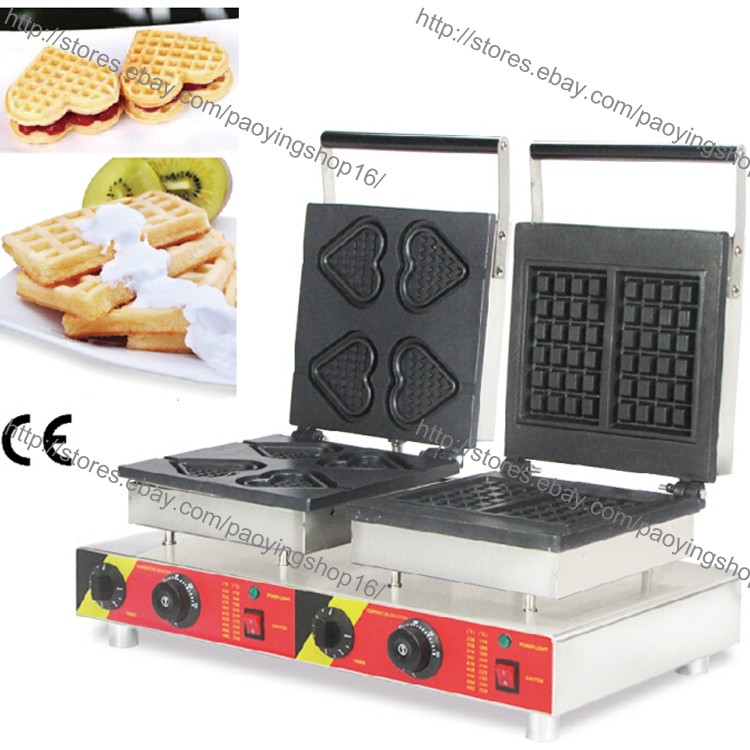 Commercial Nonstick Electric Long Belgian Waffle on A Stick Machine Maker Baker