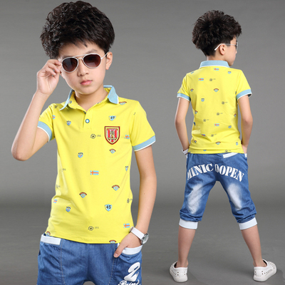 Boys suit summer 2017 new Korean version 5 children's children's clothes kids clothes 7 boys short sleeve two-piece suit