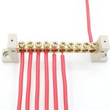 Wiring terminal row neutral row zero ground row 10 digits ten copper row grounding wiring row high current 10 holes