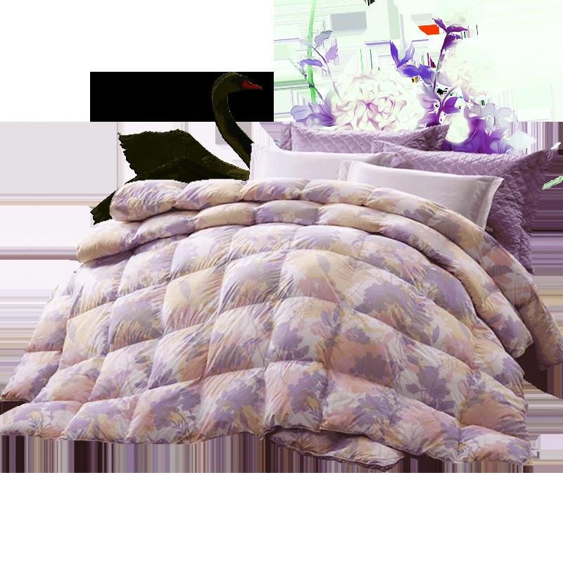 富安娜家纺鹅绒被95白鹅绒春秋被子母被抗菌被芯二合一羽绒四季被