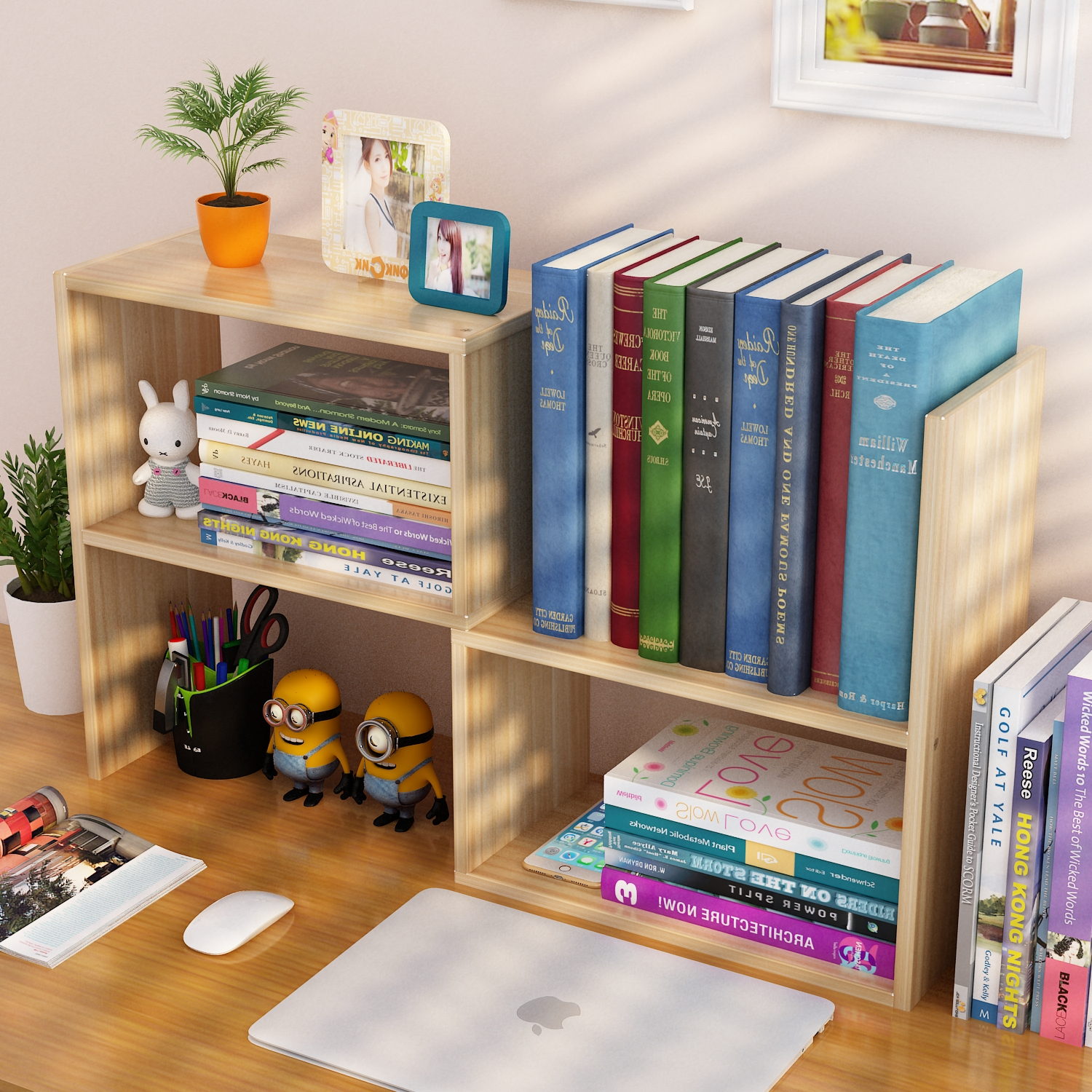 20 Home Office Bookshelves Designs Ideas: [USD 20.99] Bookshelf Shelf Simple Desk Student Children's