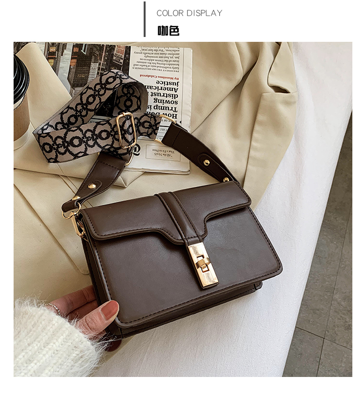 fashion woolen one-shoulder small square bag  NHLH305866