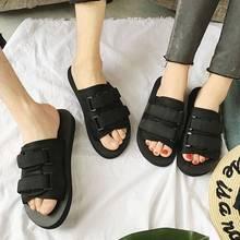 半拖鞋女外穿网红2020新款春季包头韩版百搭学生休闲平底小白拖鞋