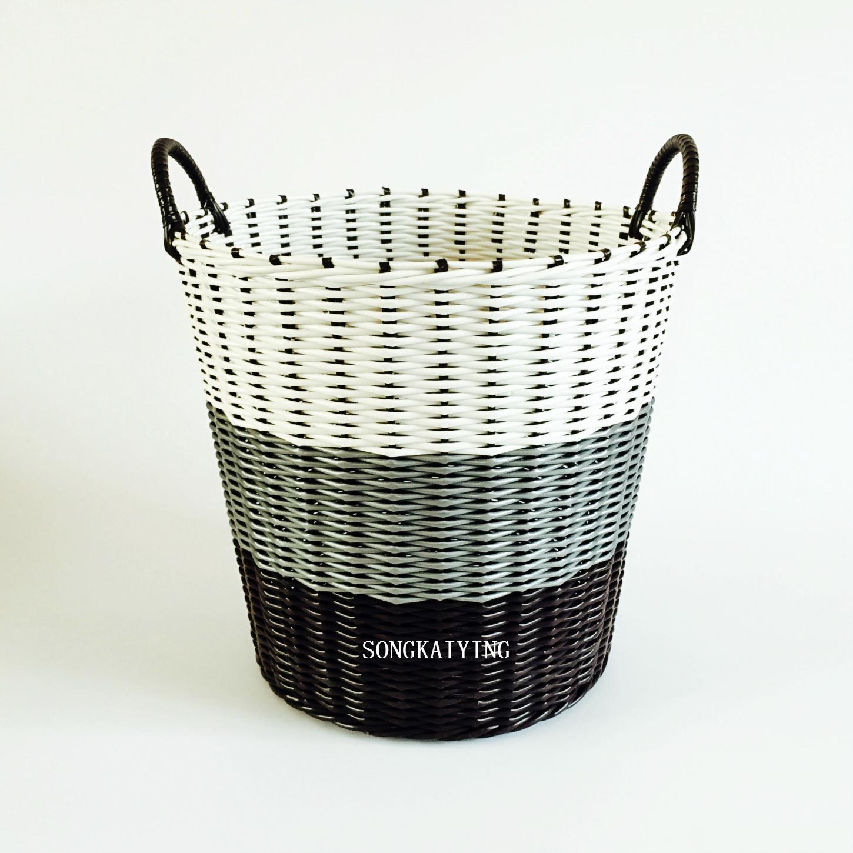 包邮大号朔料藤编织脏衣服收纳篮洗衣筐储物置衣桶污衣篓