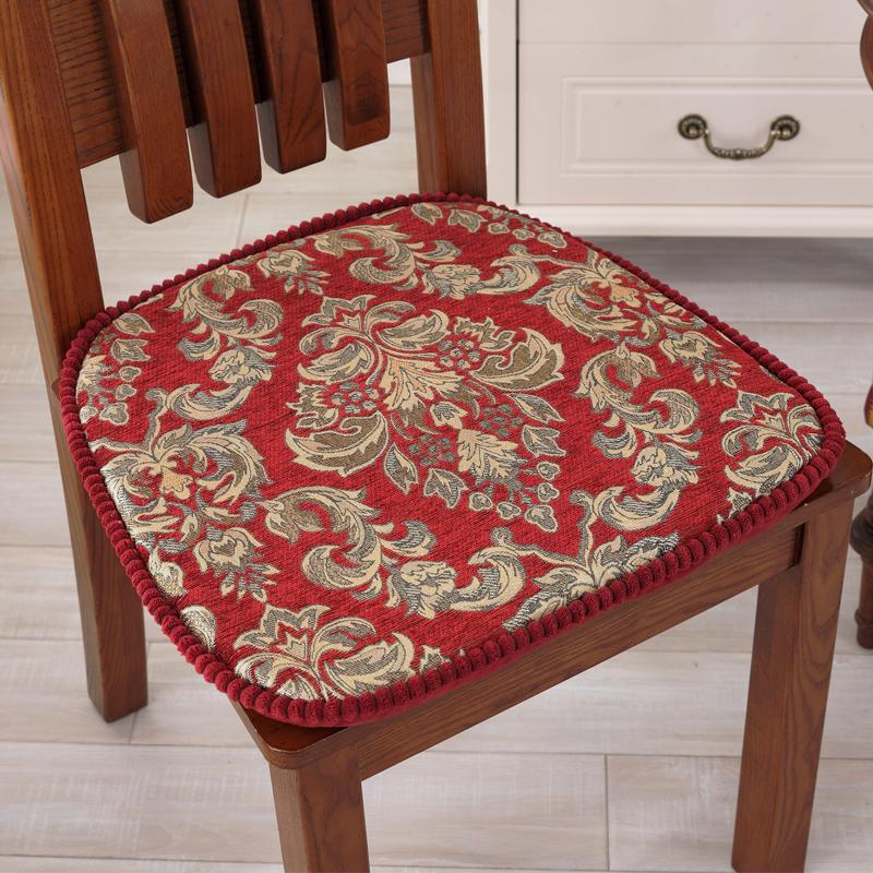 亚星中式实木椅垫套坐垫布艺椅子垫子欧式餐椅垫餐桌椅坐垫可拆洗