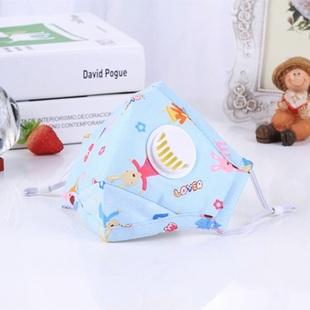 儿童口罩宝宝小孩一次性水刺布卡通带呼吸阀折叠防尘防雾霾pm2.5