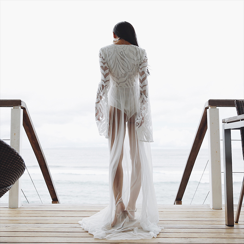 99966442 сексуальный перспектива пирсинг марля пляж затенение рубашка купальный костюм женщина бикини иностранных взять отпуск крышка